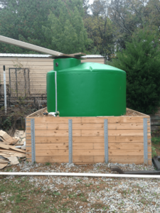 Rainwater used for garden, recycle