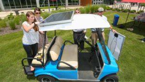 solar powered golf cart installation