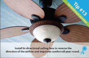 Energy Saving Hacks: Install a bi-directional ceiling fan