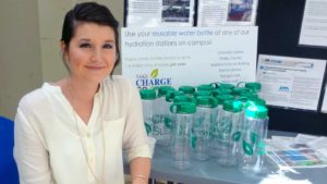 Haley Hix, UAH Sustainability Coordinator heads up Ban the Battle