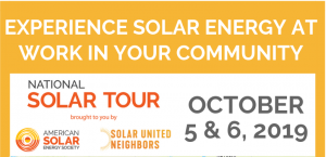 National Solar Tour Oct. 5 & 6